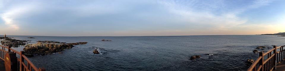 panorama, sea, republic of korea
