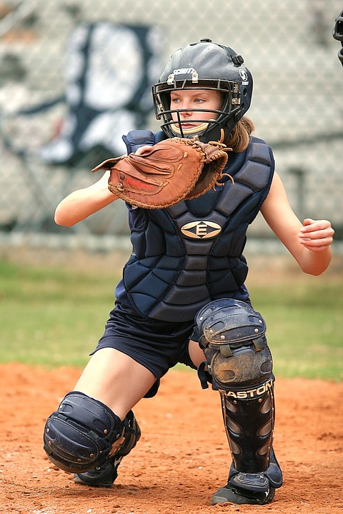 softball, catcher, game