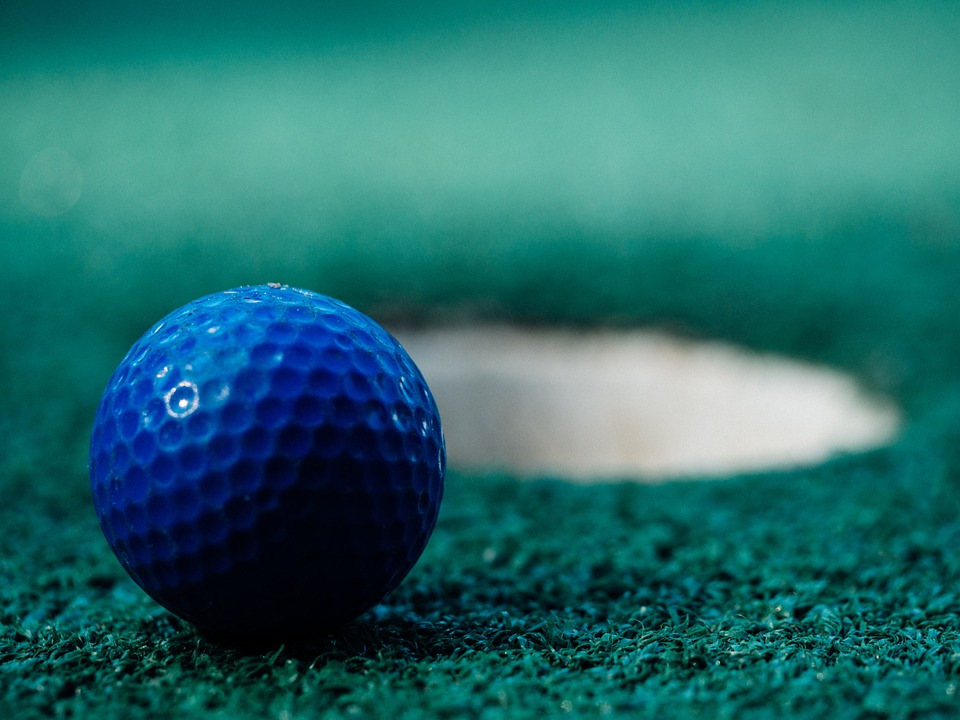 golf, ball, green