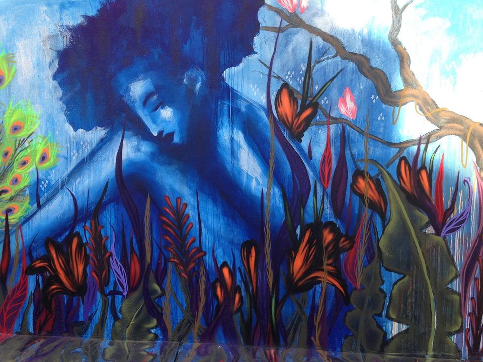 mural, art, painting