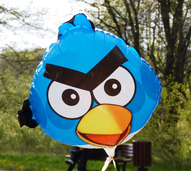 angry birds, balloon, bird