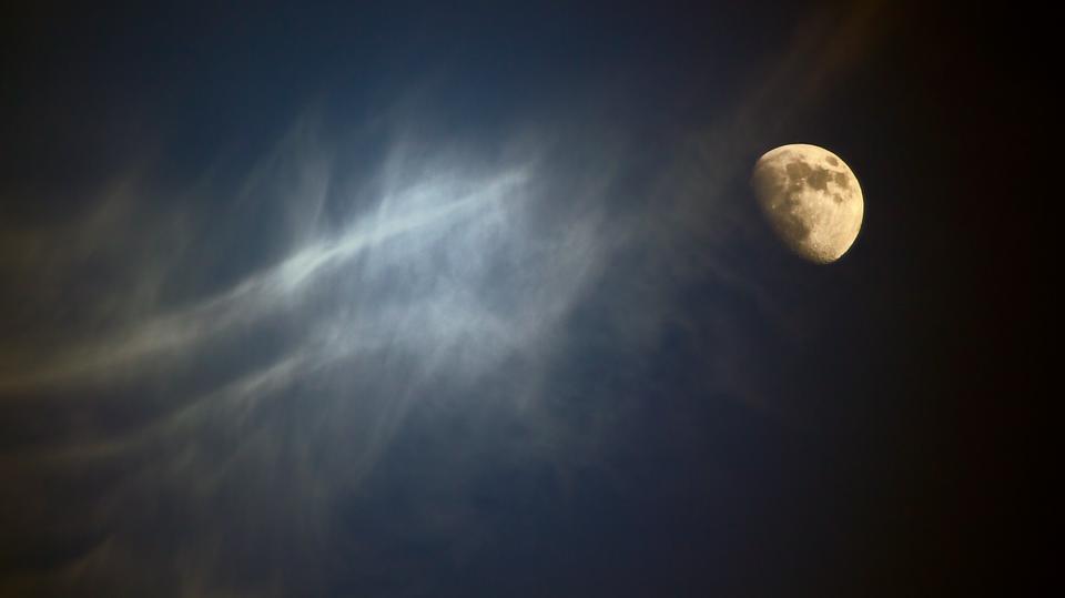 moon, sky, night