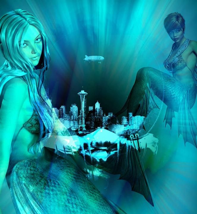 abstract, aqua, water