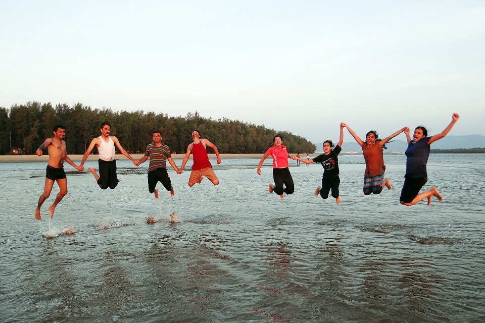 happy people, happy, jumping
