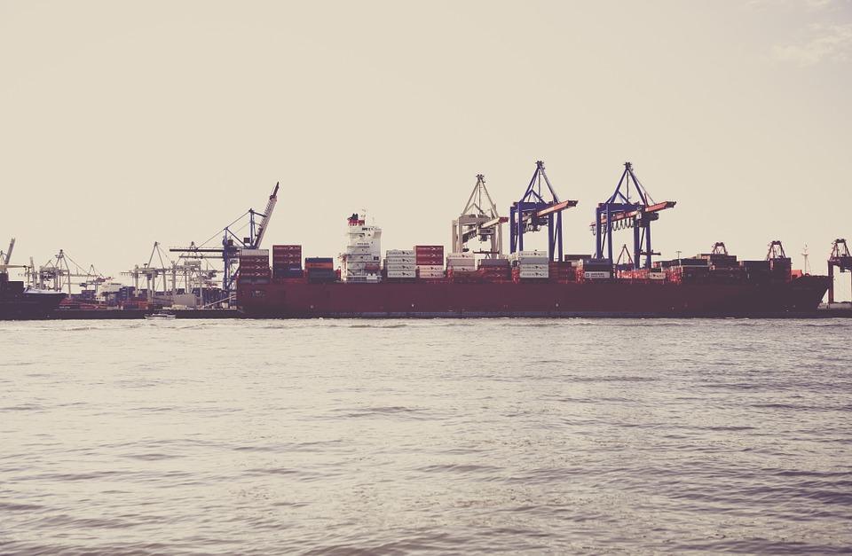 hamburg, port, container