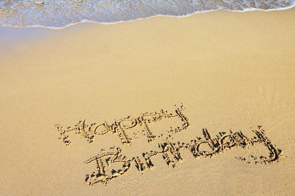 beach, happy birthday, celebration