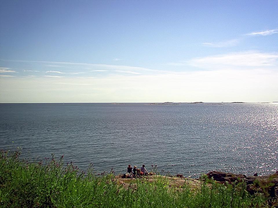 picnic, sea, beach