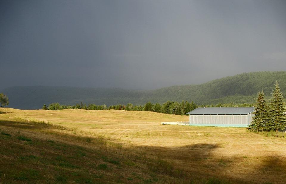 thunderstorm, dark sky, weather