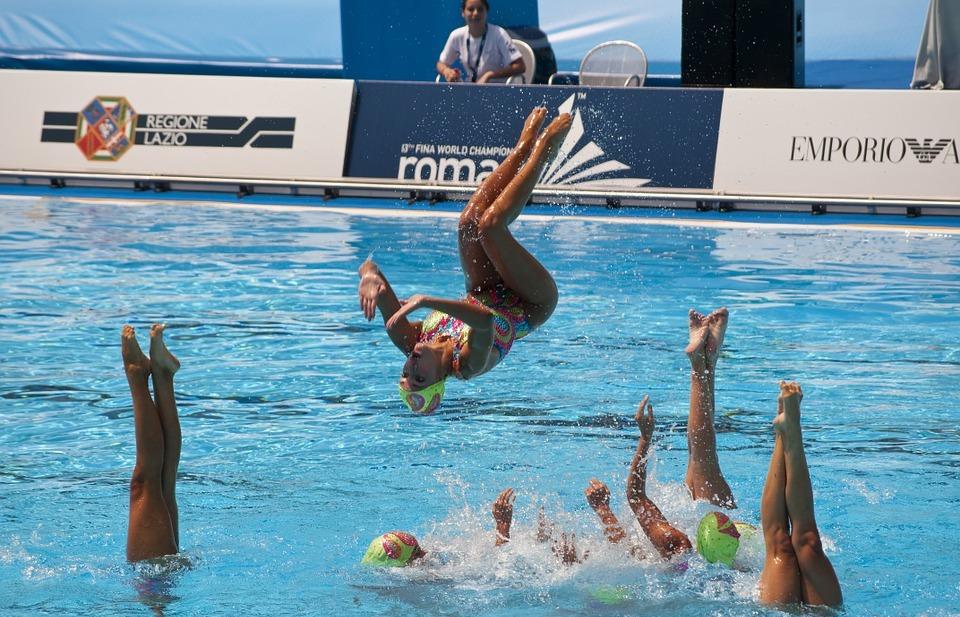 sport, swimming, synchronized