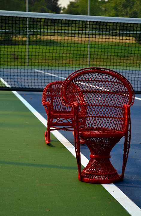 tennis, red, chair
