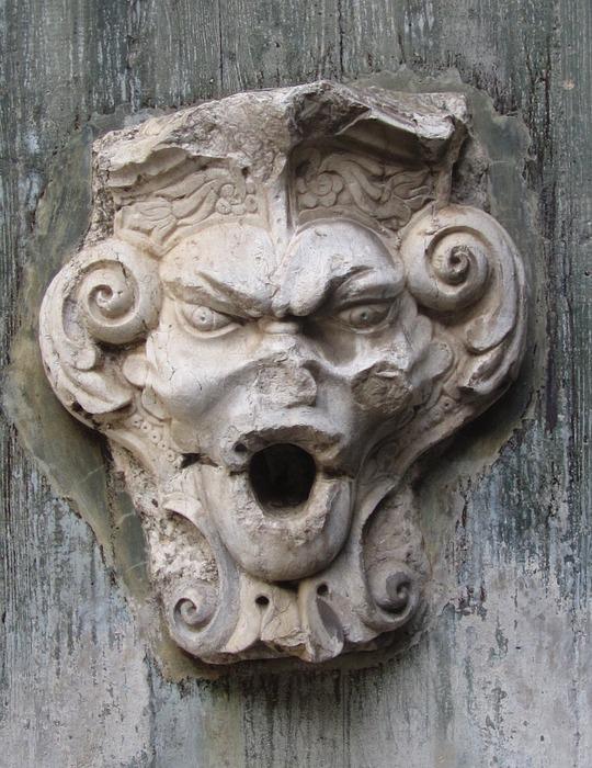 angry, stone, gargoyle