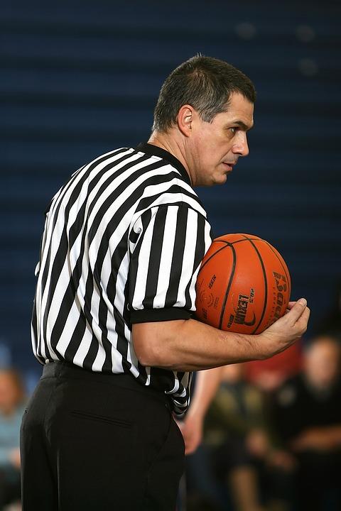 basketball, referee, striped