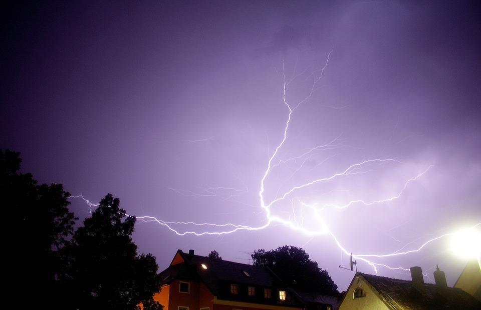 thunderstorm, night, erding