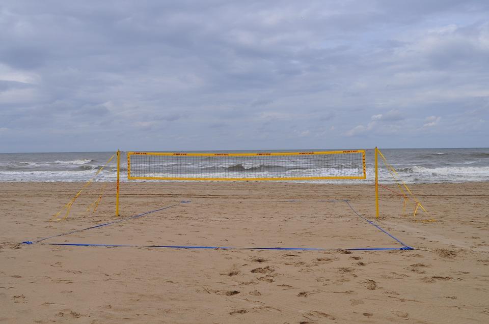 beach, beach volleyball, sportive