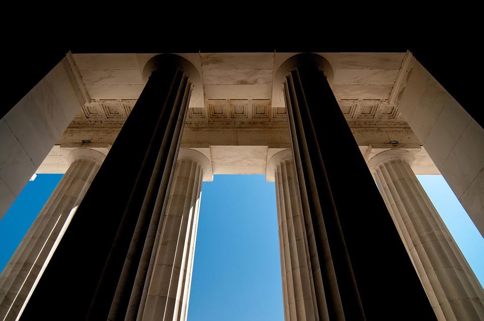 pillar, modern, stone