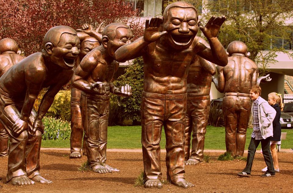 laughter, statue, sculpture
