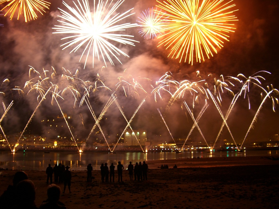 fireworks, party, viana do castelo