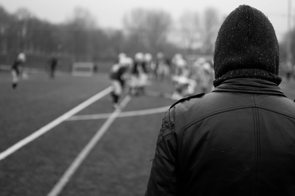 rugby, watching, winter