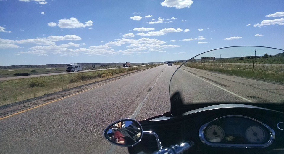 biker, flat, motorcycle