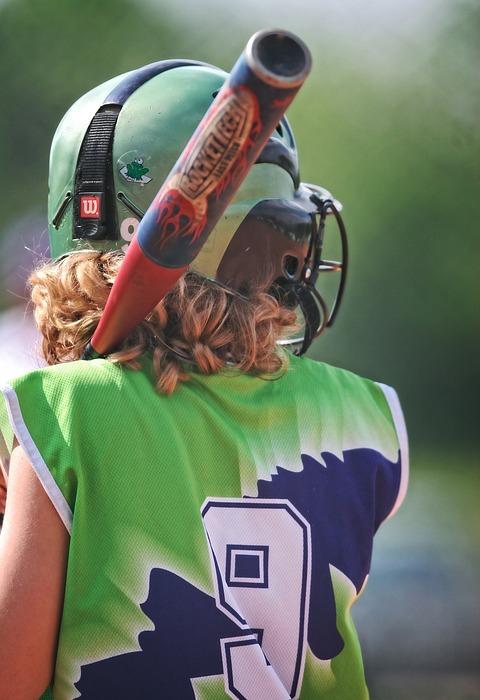 softball, girl, batter