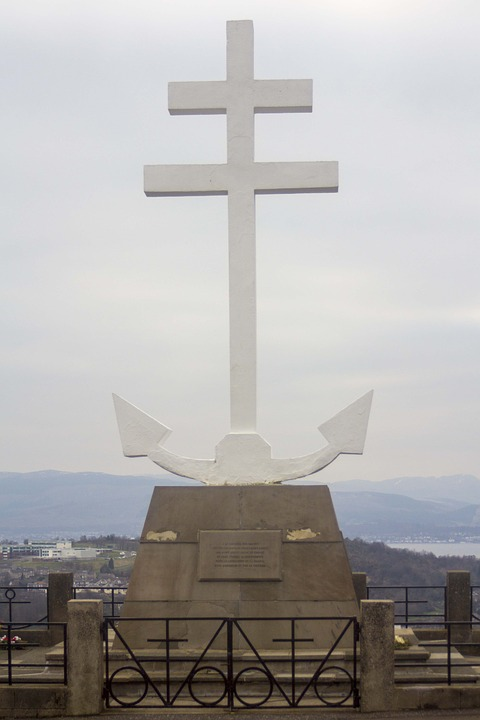 war memorial, monument, anchor