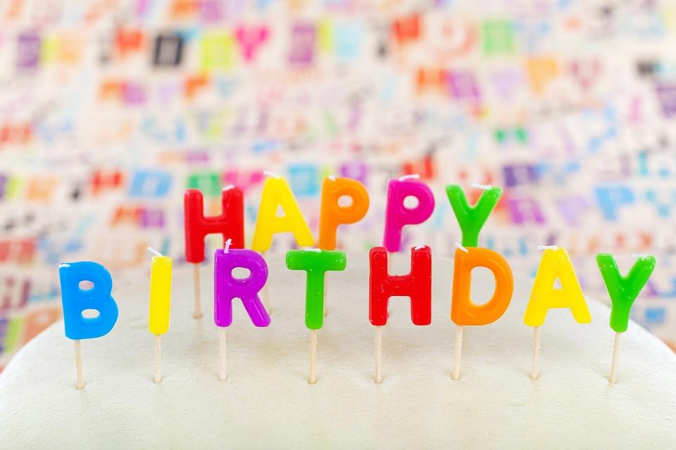 happy birthday, cake, candle