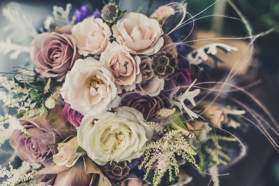 bouquet, roses, flowers