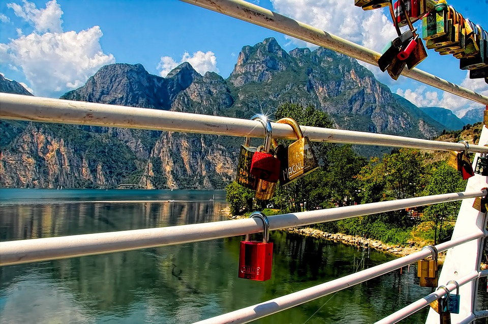 love locks, locks, railing