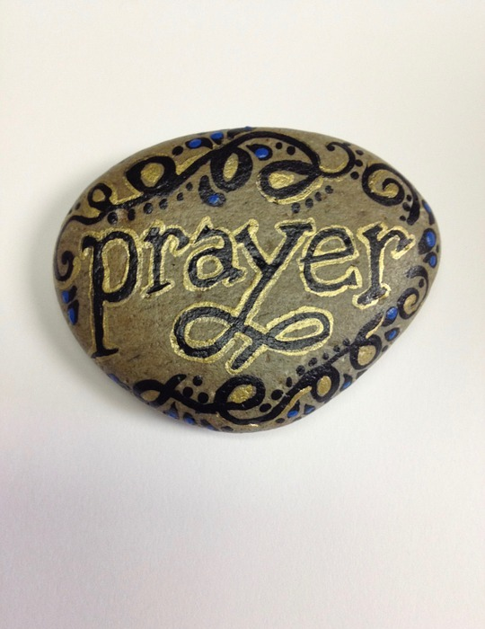 prayer, paint, rock