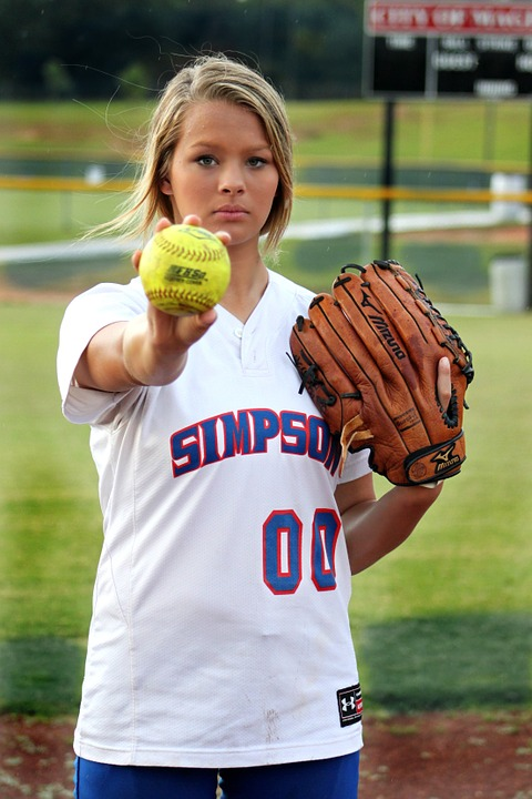 player, softball, sport