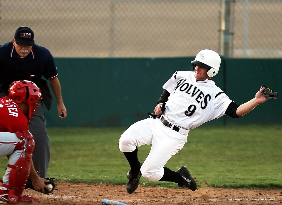 baseball, baseball game, slide
