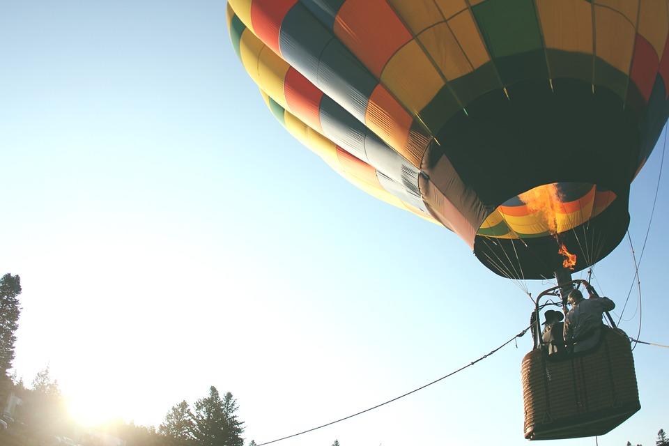 hot air balloon, balloon ride, air