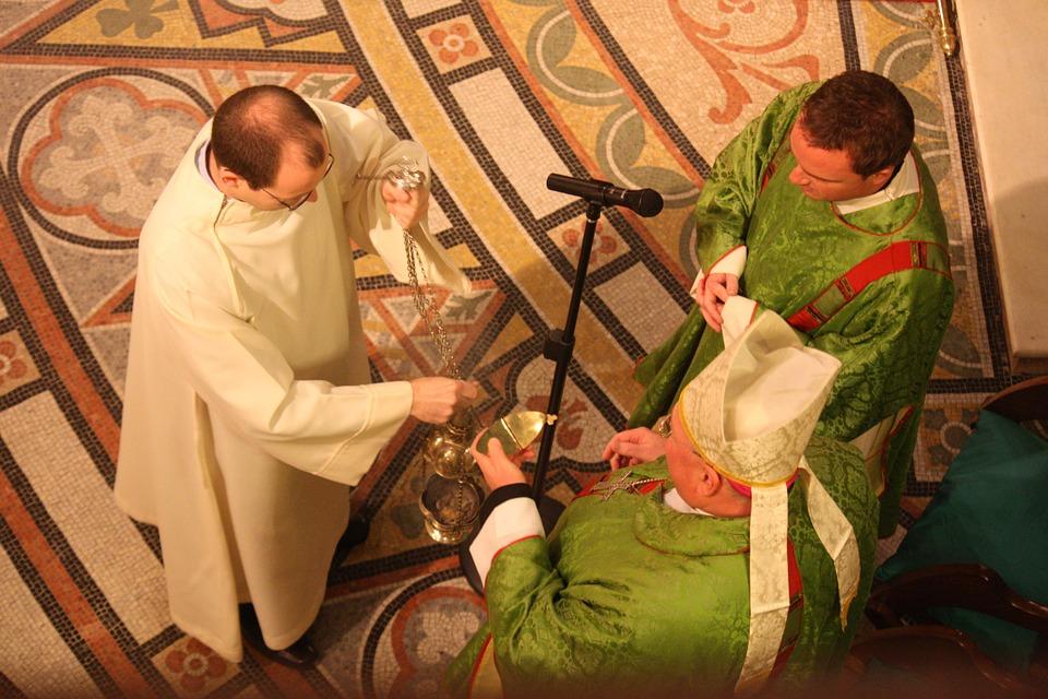 catholic liturgy, incensing at the mass, celebrating the mass