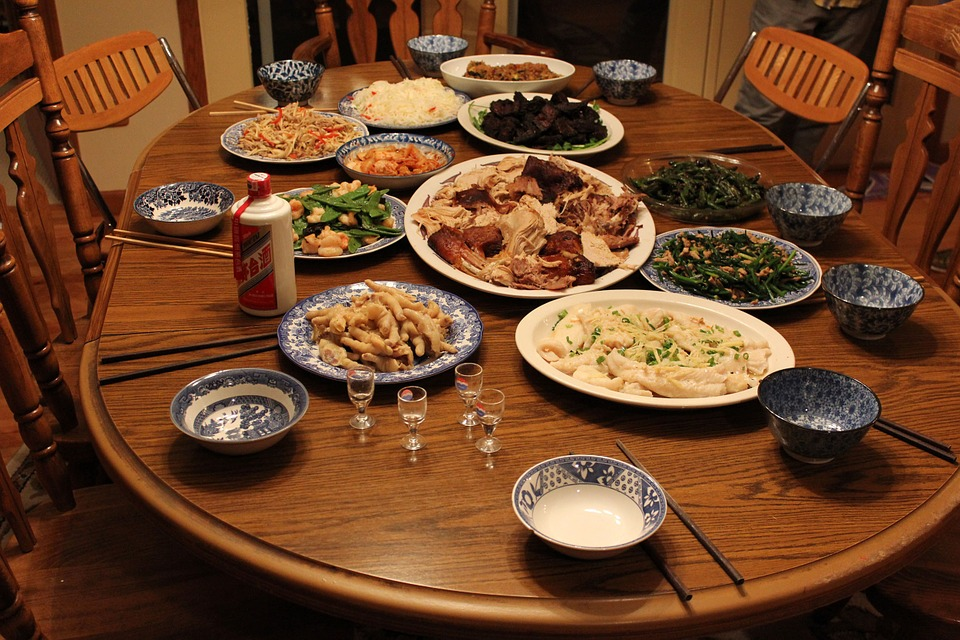 thanksgiving, chinese, feast