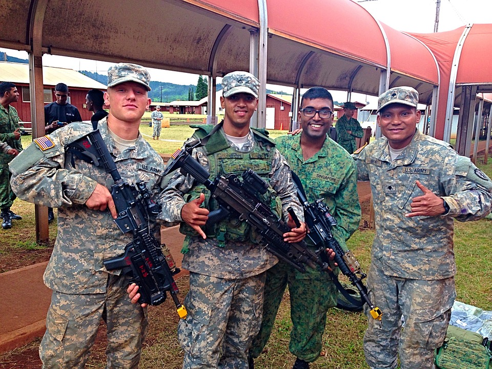 army, soldiers, military
