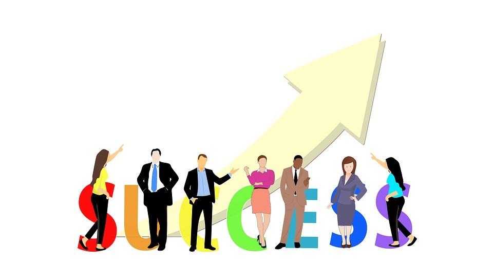 success, business, businessmen