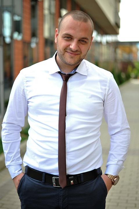 man, white shirt, male