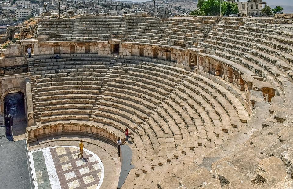 ancient theatre, architecture, ruins