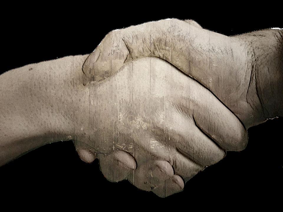 handshake, hands, grunge