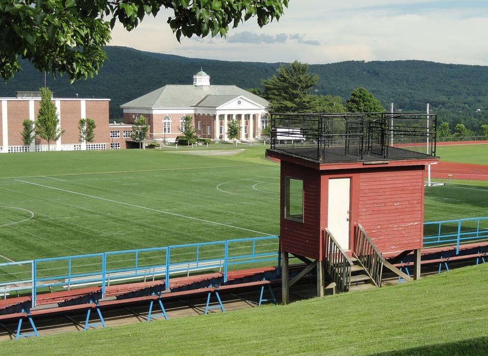 massachusetts, school, athletic field
