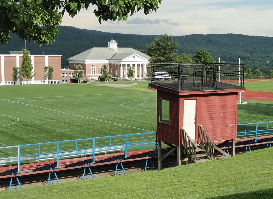massachusetts, school, athletic field