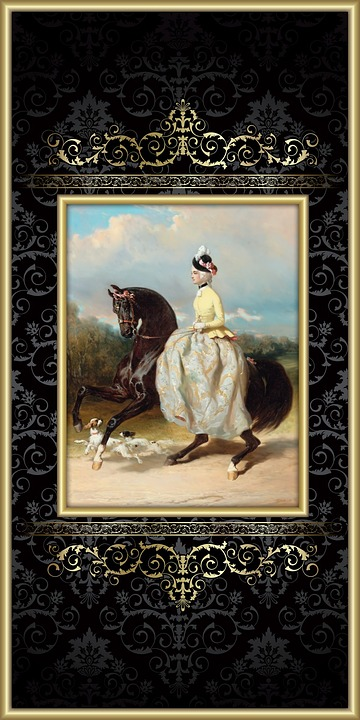 horse, woman, victorian