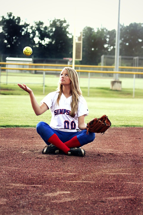 softball, girl, young