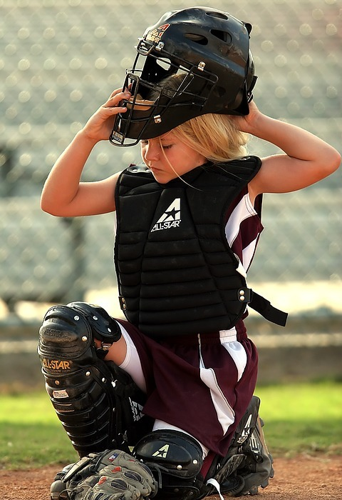 softball, player, catcher