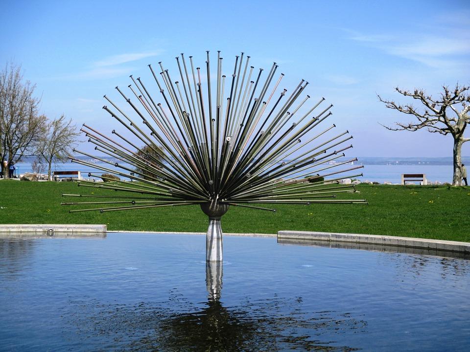 fountain, asco fountain, water