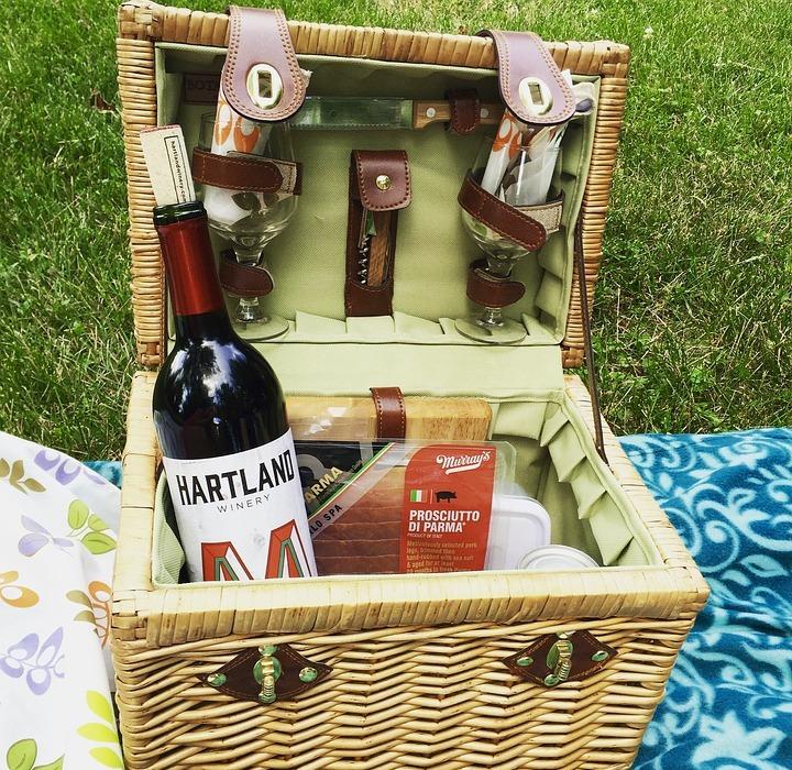 picnic, wine, cheese