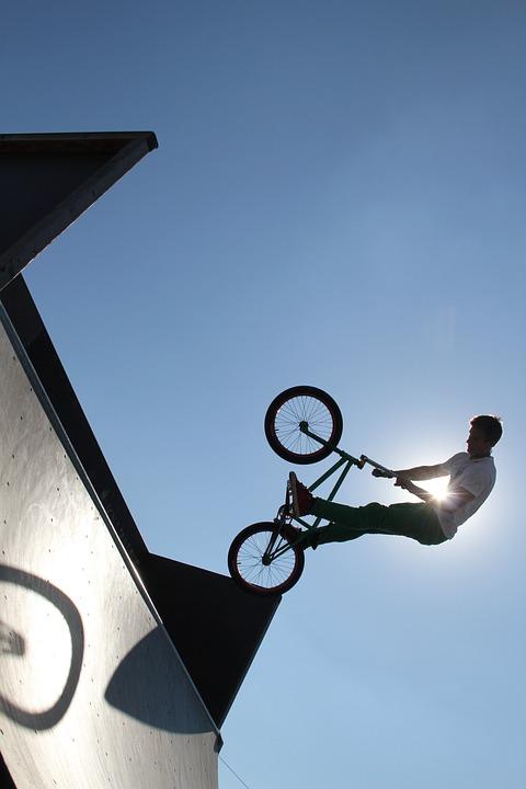 bmx, jump, trick