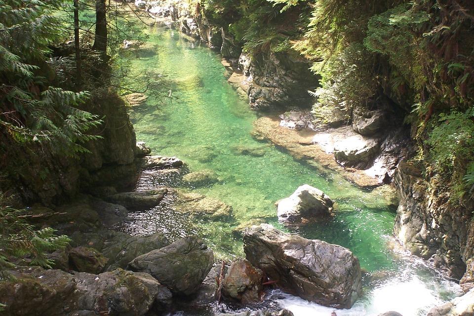 canada, canyon, river