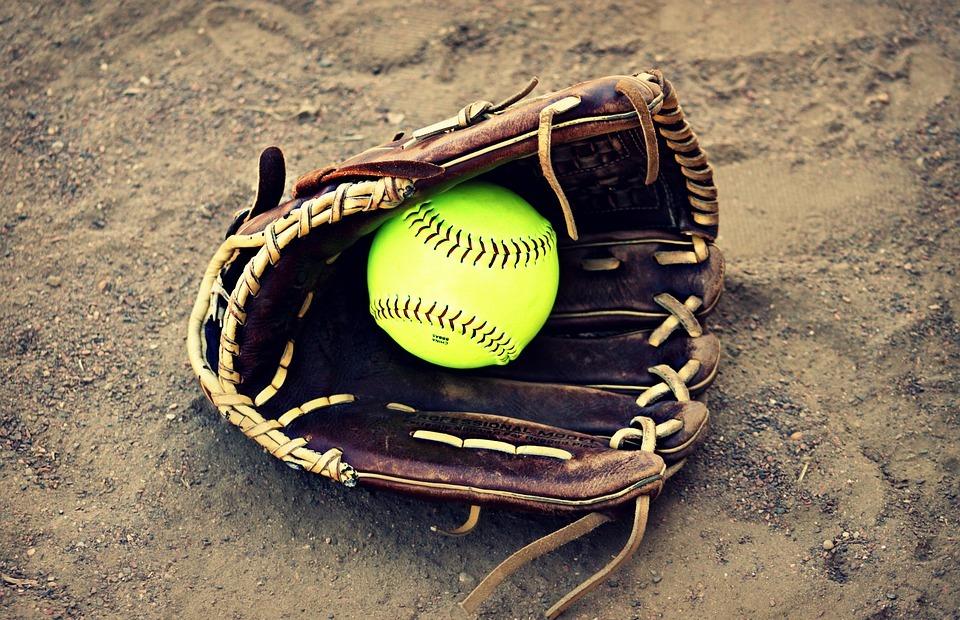 softball, outside, ball