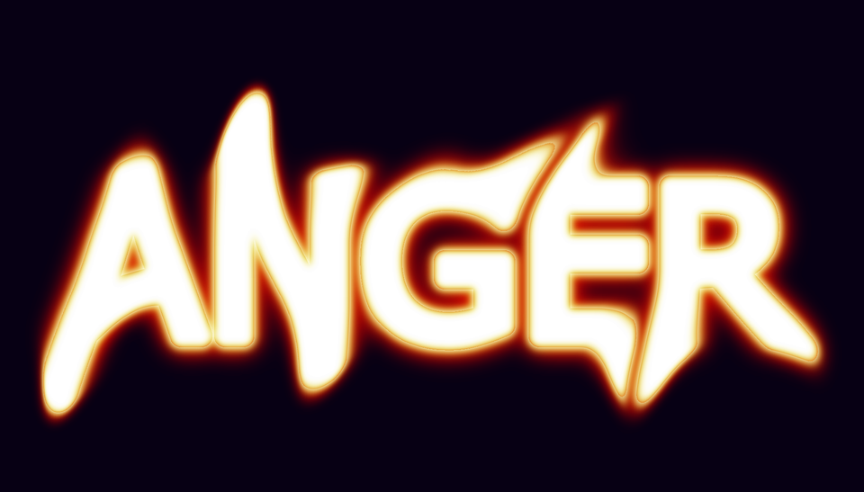 anger, angry, word-art